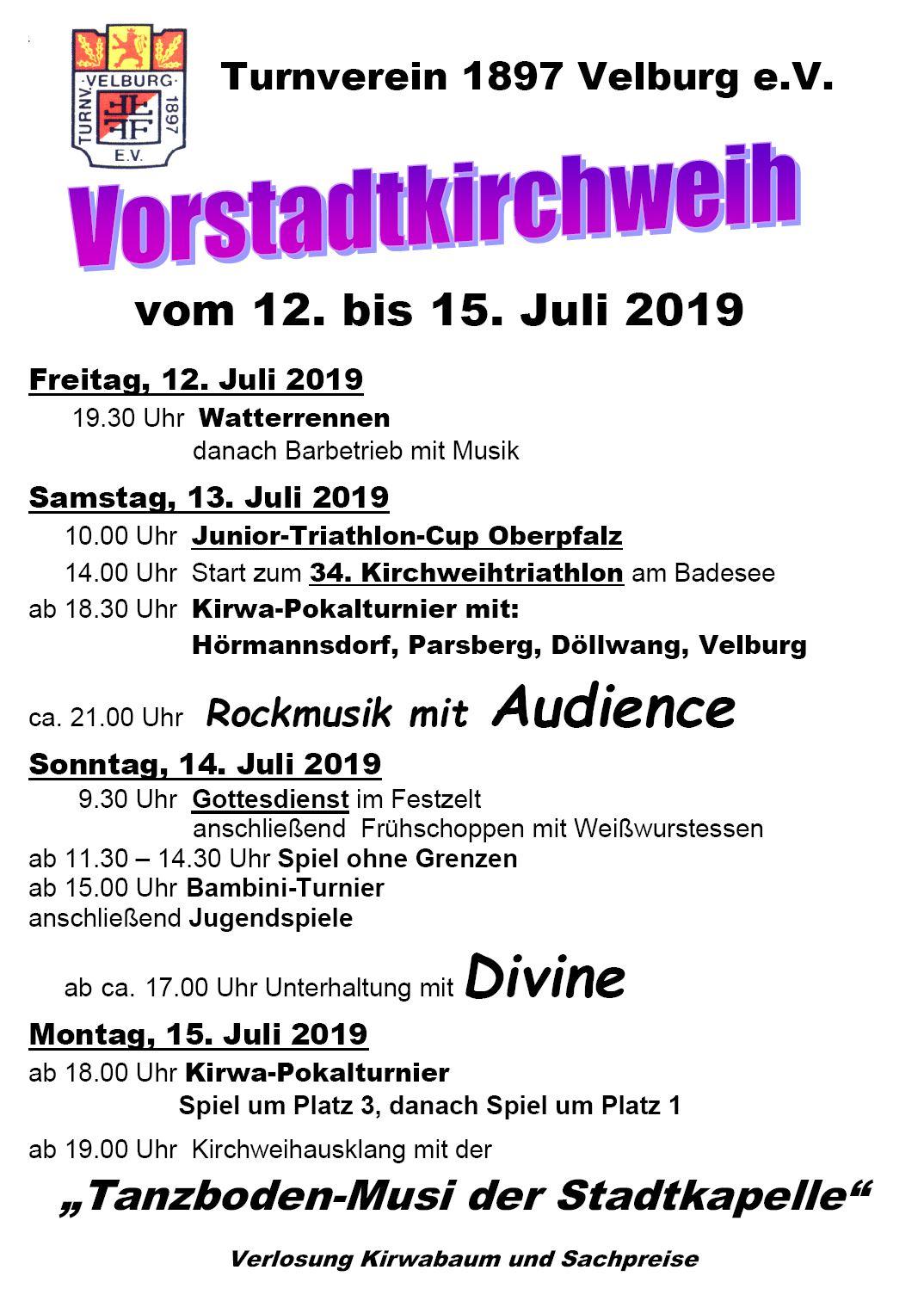 Vorstadtkirchweih 2019 - alle Infos